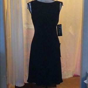 S.L. Fashions Black Party Dress